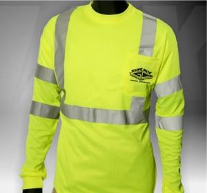 ANSI Class 3 Long Sleeve Safety Green T-Shirt