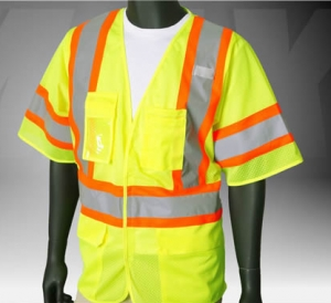 ANSI Class 3 Deluxe Mesh Vest, Safety Green, Velcro Front