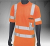 ANSI Class 3 Short Sleeve Safety Orange T-Shirt