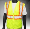 ANSI Class 2 Deluxe 8 Pocket Safety Green Mesh Vest