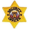 "Security Officer Six Pointed GOLD Star Patch 3""x3"""